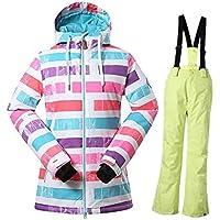 Damen Skianzüge Winter wasserdicht Warmhalten Bergsportanzüge Jacken Furnier Doppelkarton Skikleidung