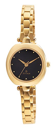 Titan Karishma Analog Black Dial Women's Watch -2520YM02