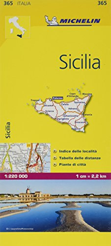 Mapa Local Italia Sicilia (Mapas Local Michelin), 1:220.000 por MICHELIN