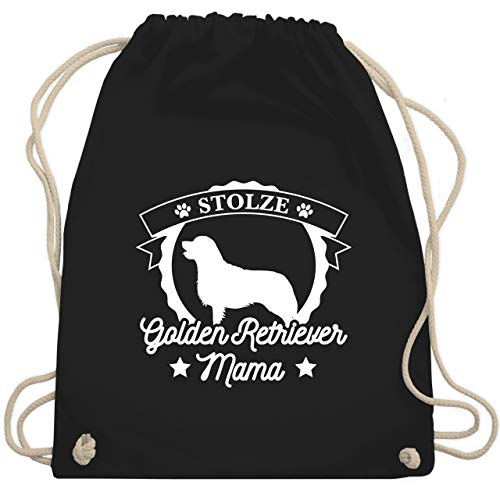 Hunde - Stolze Golden Retriever Mama - Unisize - Schwarz - WM110 - Turnbeutel & Gym Bag -