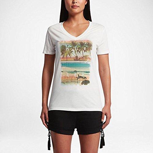 Hurley T-shirts - Hurley Lakey Peterson Perfect V-Neck T-Shirt - Sail (V-neck Hurley)
