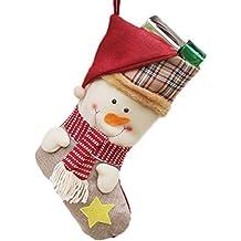 50e47af8d Dosige Bolsa de Navidad Media de la navidad Calcetín de navidad Calcetín  Nicolás Árbol de Navidad