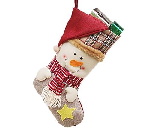 Ruikey noël Chaussettes Stockage de Noël Cadeaux de bonbons au chocolat Sacs aux friandises Sacs à provisions Sacs de Noël Colliers Nombre de points de croix comptés