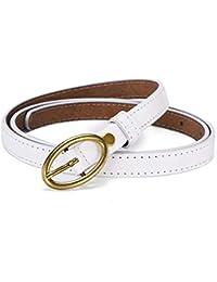Styhatbag Cinturón de Mujer para Mujer Cinturones de Vaqueros de Cuero de  Vaca genuinos de Las Mujeres con Hebilla de un Solo Diente… c384c7204b2c