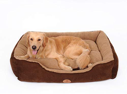 NLYR-Haustier Hundebett Orthopädische Plüsch und Wildleder Schlafsofa Für Hunde und Katzen,XL -