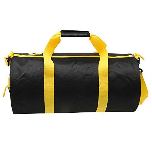 Lonsdale Barrel Bag, Palestra Fitness Borsa Da Viaggio Nero (Nero / Giallo)