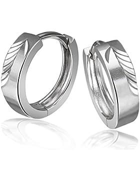 Goldmaid Damen-Creolen diamantiert 925 Sterlingsilber hochglanz Ohrring