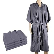 4pcs Bata de masaje para spa, Segbeauty Impermeable Kimono Media mangas Salon Client Cabo Peluquería