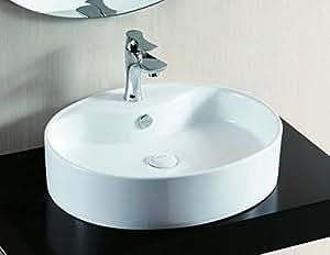 Haut bassin de vanité vasque design ovale 56x46cm
