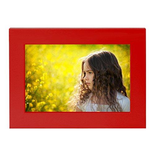BOJIN 23X28CM Rosso Picttura Telaio - Contiene Foto 20x25 cm senza Mat - Incluso Parete Materiale di Montaggio