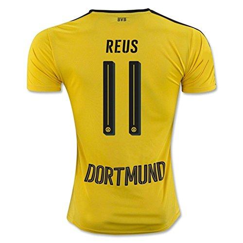 20162017Borussia Dortmund Radsport Trikot 11Marco Reus Home Football Soccer Jersey Kit in Gelb Medium gelb