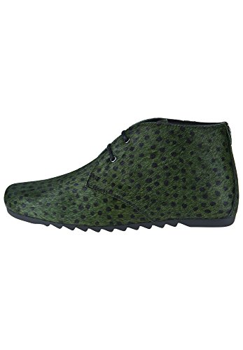 Maruti Women's Ginny Women's Brown-Black Chukka Boots Leather small dots green black