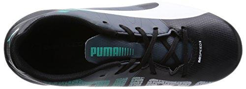 Puma evoSPEED 5.3 FG Jr Unisex-Kinder Fußballschuhe Schwarz (black-white-turbulence-pool green 03)