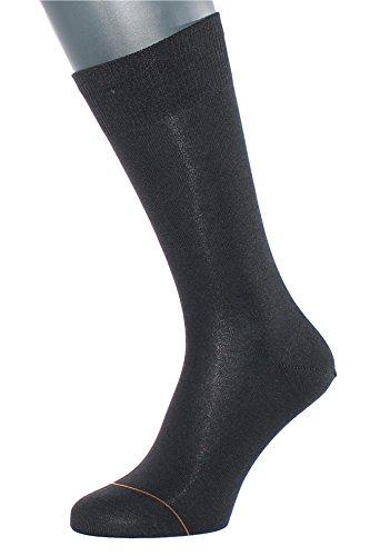Cashmere Herren-socken (Albert Kreuz Business Herren-Socken aus Baumwolle mit Cashmere/Kaschmir-Innenseite schwarz 1 Paar Gr. 42-44)