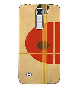 Fuson Designer Back Case Cover for LG K10 :: LG K10 Dual SIM :: LG K10 K420N K430DS K430DSF K430DSY (Circle Round Strips )