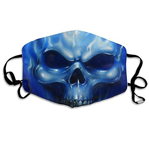 Weibliche Kostüm Security - WBinHua Masken, Masken für Erwachsene, Mask Face, Mouth Mask, Breathable Mask Anti Dust, Unisex Flame Skull Printed Cotton Mouth-Masks Face Mask Polyester Anti-dust Masks
