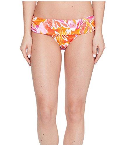 Ralph Lauren Damen Badeanzug Tropical Bedruckt Foldover Bikini Bottom 16 Orange