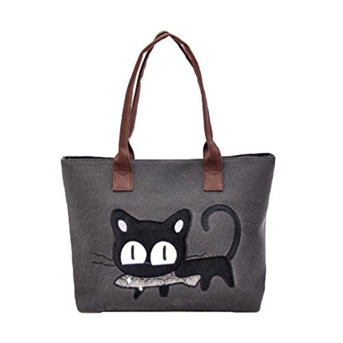 internet-fashion-women-shoulder-bag-cute-cat-bag-office-lunch-bag-black