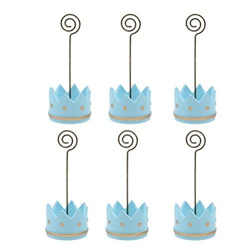 haber Name Tabelle Inhaber Memo-Clips für Baby Party Pack 6 (blau) ()