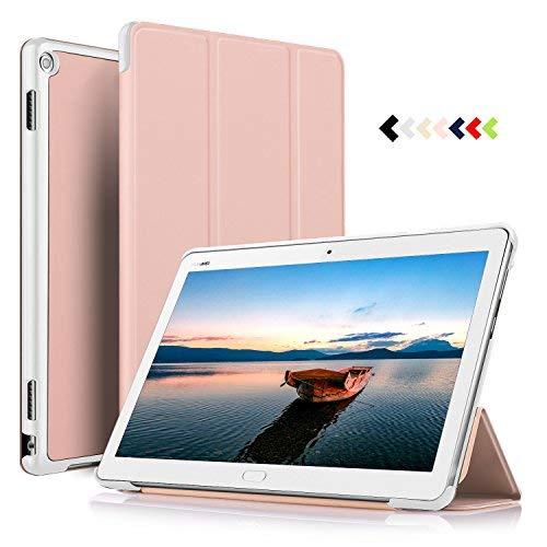 ELTD Hülle für Huawei MediaPad M3 Lite 10 - Ultra Schlank Smart Cover Tasche Schutzhülle Case für Huawei MediaPad M3 Lite 10 mit Standfunktion, Rosegold