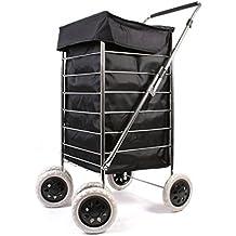 Alexander Graham Exclusivo Alta Calidad 6–Rueda de Carro de la compra con mango ajustable giratorio–Gran bolsa de la compra, pero fácil de usar y de gran movilidad