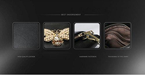 Home Monopoly Borsa a mano di grandi borse della borsa di modo della borsa di temperamento di modo / con la cinghia di polso, cinghia di spalla ( Colore : Nero ) Nero