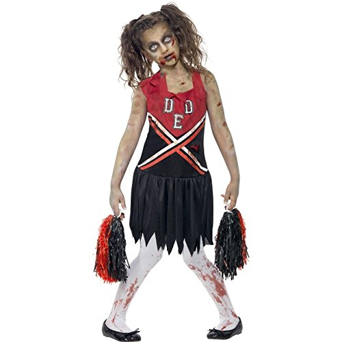 Cheerleader Zombie Kostüme Kind (Halloween Horror Kinder Kostüm Zombie Cheerleader Gr.12 bis 14)