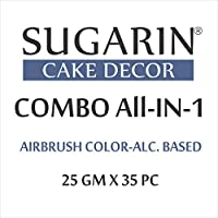 Sugarin Combo All-in-1 Airbrush Color-Alcohol Based, 25gm x 35pc