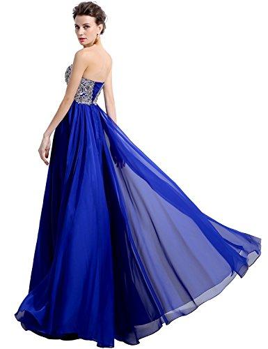 Sarahbridal Damen Lang Princess Kleider Bandeau Ballkleid Paillette  Stickerei Abendkleider SLX030 Fushcia