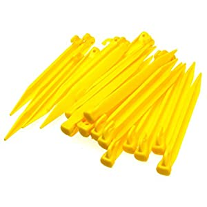41lfb3aREoL. SS300  - 24pcs Plastic Tent Pegs Durable Spike Hook Awning Camping Caravan Pegs Accessory