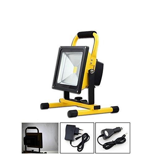 VINGO®LED Akku Strahler 4800MA Handlampe 30w Worklampe 2700 Lumen IP65 Arbeitsleuchte Fluter Kaltweiß Baustrahler