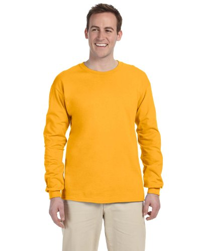Fruit Of The Loom - T-shirt a manica lunga, in cotone robusto, 4930R Oro
