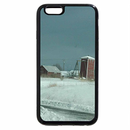 iPhone 6S / iPhone 6 Case (Black) Winter on the farm