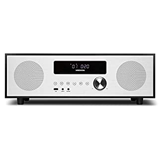 MEDION X64400 CD-Mikroanlage mit Bluetooth 2.1 & DAB+ (MP3-Audio, CD Player, USB) schwarz