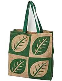 Samyawoven Bag Women's Casual Canvas Tote Bags Shoulder Handbag Travel Bag Green Leaf