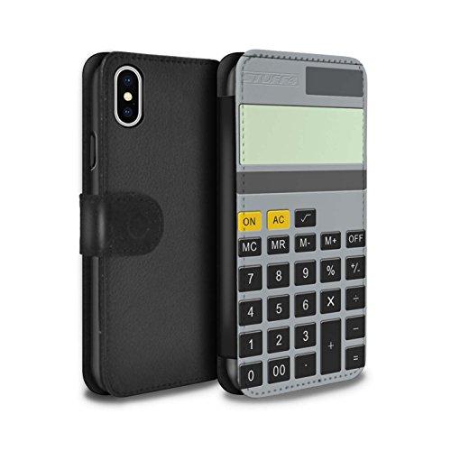 Stuff4 Coque/Etui/Housse Cuir PU Case/Cover pour Apple iPhone 6S / Piano Design / Clés/Boutons Collection Calculatrice