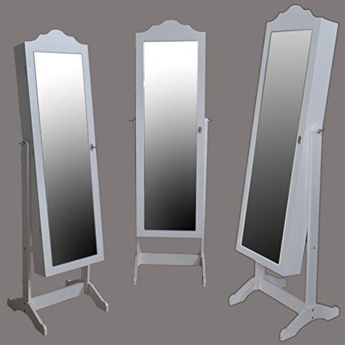 SVITA Schmuckschrank LED Standspiegel Make-up Schatulle Spiegelschrank Schminkschrank Schmuck