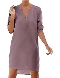 f82d55ee4732a Amlaiworld Vestido Mujer Verano Vestido de Playa Vestido Corto de Cóctel de Noche  Sexy de Señora