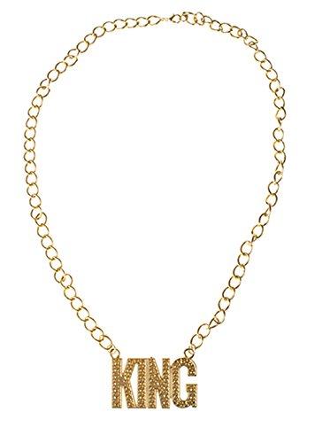 Confettery - Kostüm Accessoire- 80er- 90er Jahre- King Gold Kette, Erwachsenen Kostümschmuck, Gold (90er-jahre-kostüme)