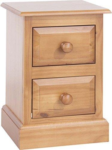 2 Schublade Nachttisch (CORE Products Petite Nachttisch, 2Schubladen, Holz, Golden Antik getöntes Lack, 32x 36x 53cm)