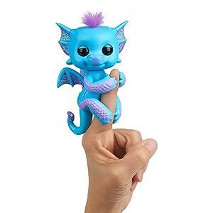 Wowwee- Tara Mascota Interactiva, Color Azul con Glitter (3581)
