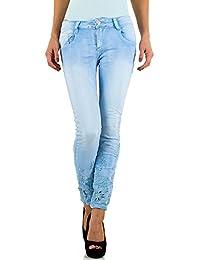 Mozzaar Bestickte Skinny Jeans Für Damen bei Ital-Design
