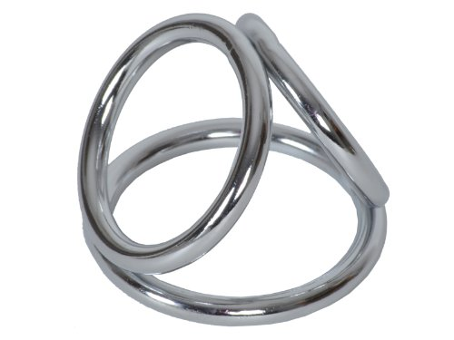 High Quality 3-Fach Penisring Triple Penis-Ring Cockring Hodenring (S/M)