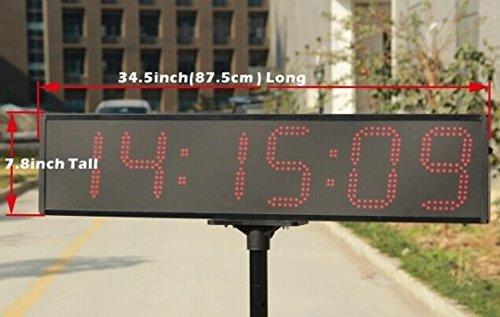 Große GOWE wasserdicht & Super 6 Ziffern Helligkeit 15,24 cm Zeit LED sportliche, Stoppuhr, Intervallzeitgeber Timer, Marathon Timer mit Anti_glossy Linse