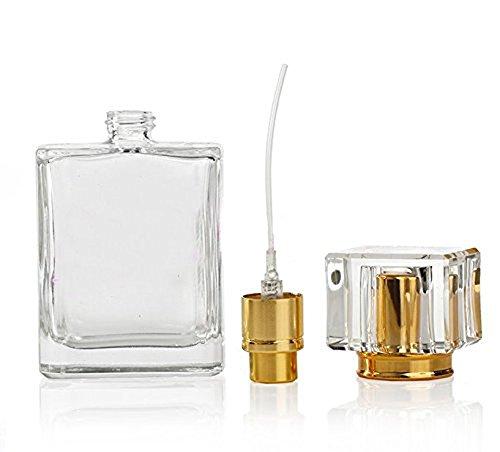 50 ml rechargeable de luxe en verre transparent Atomiseur Vaporisateur Bouteille de Parfum Vide Bouteille