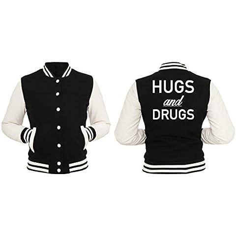Hugs And Drugs Giacca Collegio Girls Nero