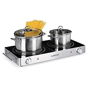 Klarstein VariCook Duo – Placa de cocina, Hornillo eléctrico, Cocina eléctrica, Potencia 3000W, Cocción por infrarrojos…