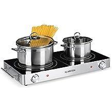 Klarstein VariCook Duo • Placa de cocina • Hornillo eléctrico • Cocina eléctrica • Potencia 3000W