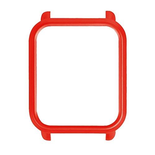 Nike-pc (Bunte PC-Kasten-Abdeckung schützen Shell für Xiaomi Huami Amazfit schlagen Jugend-Uhr Waco AMAZFIT-Messgeräte bewegen All-Inclusive-Schutzgehäuse der Jugendedition cover (Rot))