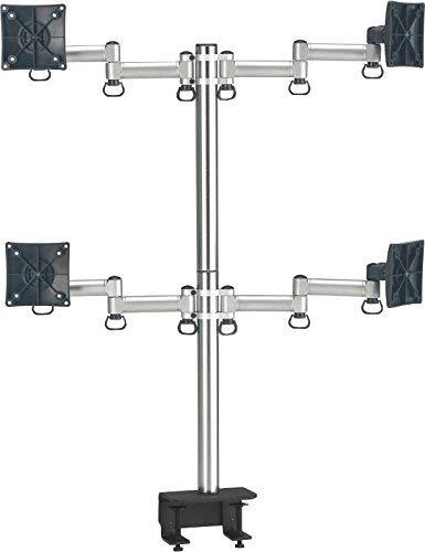 fogimount Quad Schreibtisch Monitor Arm vollständig verstellbar, passt für 4Bildschirme bis 68,6cm (Enhanced Klemme Halterung) (Quad-monitor-adapter)
